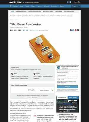 MusicRadar.com T-Rex Karma Boost