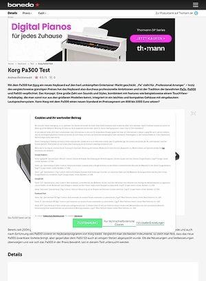 Bonedo.de Korg Pa300 Test