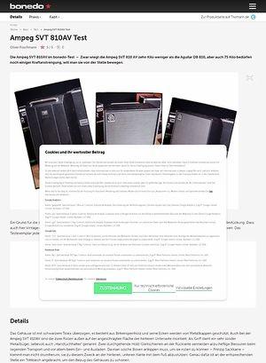 Bonedo.de Ampeg SVT 810AV Test
