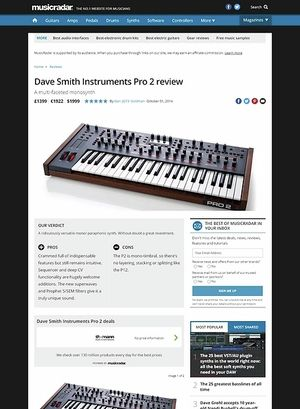 MusicRadar.com Dave Smith Instruments Pro 2