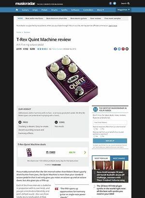 MusicRadar.com T-Rex Quint Machine
