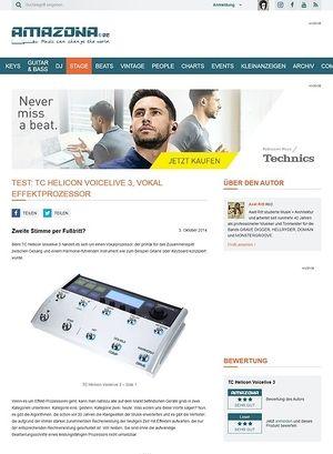 Amazona.de Test: TC Helicon Voicelive 3, Vokal Effektprozessor