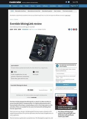 MusicRadar.com Eventide MixingLink