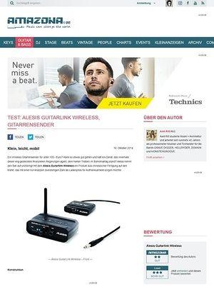 Amazona.de Test: Alesis Guitarlink Wireless, Gitarrensender