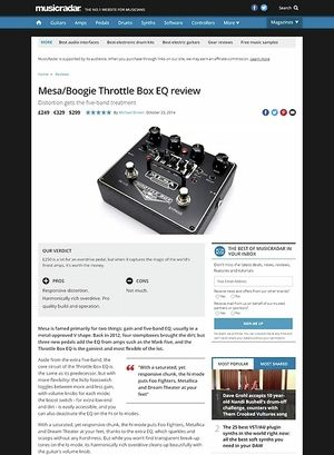 MusicRadar.com Mesa Boogie Throttle Box EQ