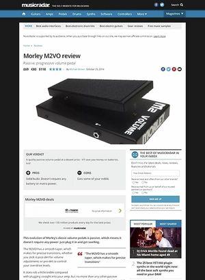 MusicRadar.com Morley M2VO