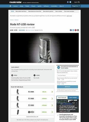 MusicRadar.com Rode NT-USB