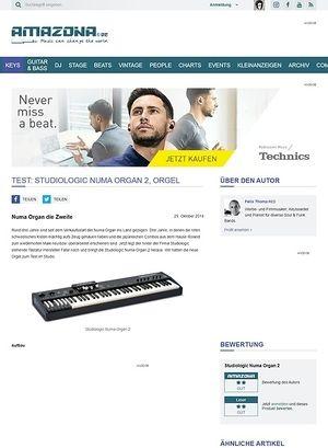 Amazona.de Test: Studiologic Numa Organ 2, Orgel