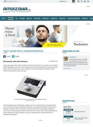 Amazona.de Test: Zoom TAC-2, Audiointerface