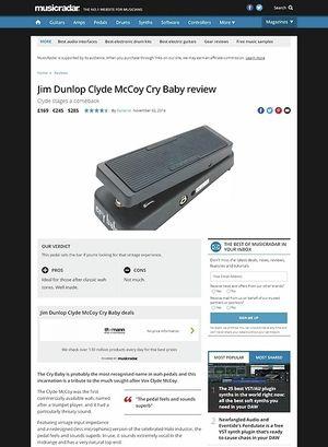 MusicRadar.com Jim Dunlop Clyde McCoy Cry Baby