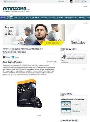 Amazona.de Test: THOMANN Studio Starter Kit, Production Bundle