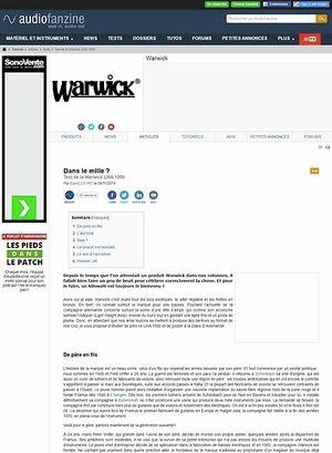 Audiofanzine.com Warwick LWA 1000
