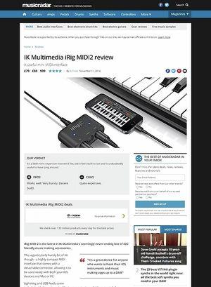 MusicRadar.com IK Multimedia iRig MIDI2