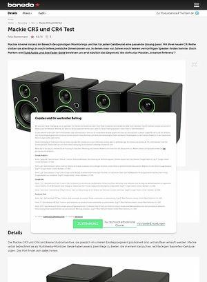 Bonedo.de Mackie CR3 und CR4