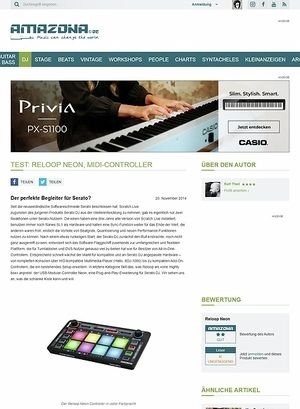Amazona.de Test: Reloop Neon, MIDI-Controller