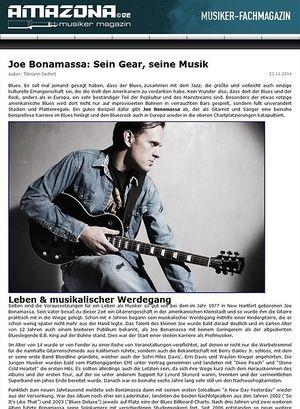 Amazona.de Report: Gitarristen, die Geschichte mach(t)en - Joe Bonamassa