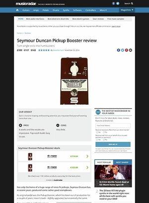 MusicRadar.com Seymour Duncan Pickup Booster