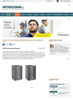Amazona.de Test: LD Systems STINGER MIX 6 A G2, Mini-PA