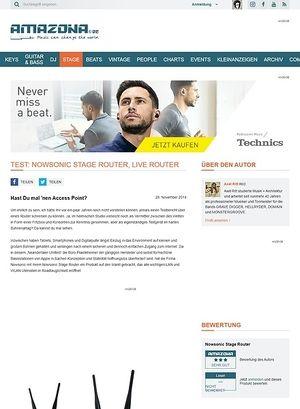 Amazona.de Test: Nowsonic Stage Router, Live Router