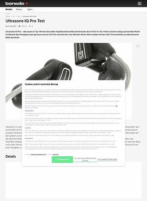 Bonedo.de Ultrasone IQ Pro