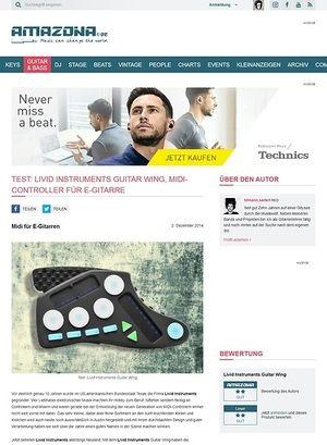 Amazona.de Test: Livid Instruments Guitar Wing, MIDI-Controller für E-Gitarre