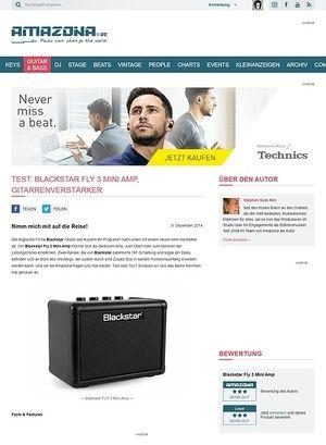 Amazona.de Test: Blackstar FLY 3 Mini Amp, Gitarrenverstärker