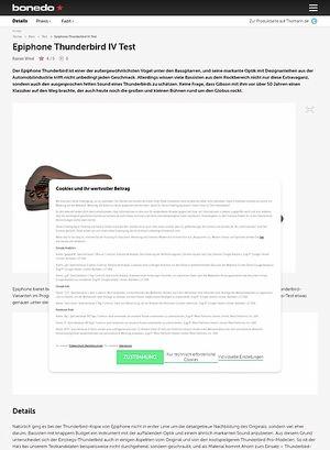 Bonedo.de Epiphone Thunderbird IV