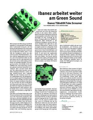 Gitarre & Bass Ibanez TS808DX Tube Screamer, Overdrive-Pedal