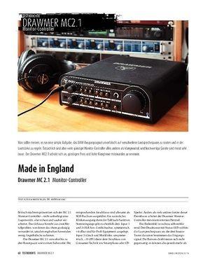 Sound & Recording Drawmer MC 2.1 - Monitor-Controller
