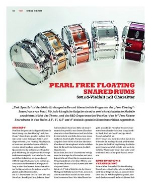 Sticks Pearl Free Floating Snaredrums