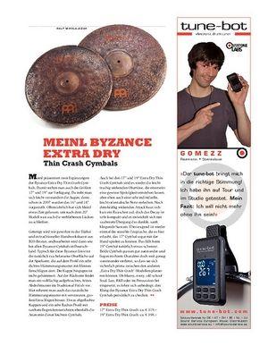Sticks Meinl Byzance Extra Dry Thin Crash Cymbals