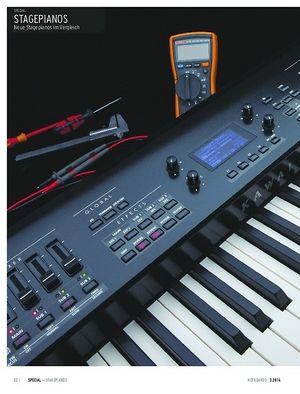 Keyboards Neue Stagepianos im Vergleich: Kawai MP7, Kurzweil Artis, Roland RD-800, Yamaha CP4