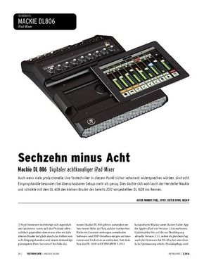 Keyboards Mackie DL 806 - Digitaler achtkanaliger iPad-Mixer