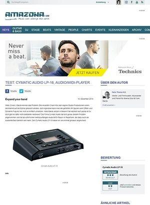 Amazona.de Test: Cymatic Audio LP-16, Audio/MIDI-Player