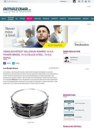 Amazona.de Vergleichstest: Millenium Snares 14x5,5 Power Brass, 14x5,5 Black Steel, 14x5,5 Maple