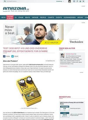 Amazona.de Test: DOD Bifet 410 und DOD Overdrive Preamp 250, Effektgeräte für Gitarre