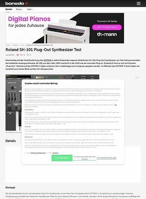 Bonedo.de Roland SH-101 Plug-Out Synthesizer