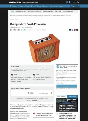 MusicRadar.com Orange Micro Crush Pix