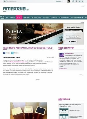 Amazona.de Test: Meinl Artisan Flamenco Cajons, Teil 2