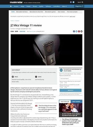 MusicRadar.com JZ Mics Vintage 11