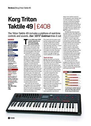 Future Music Korg Triton Taktile 49