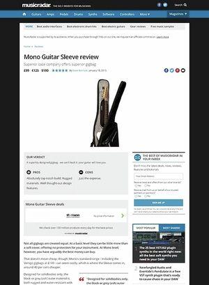 MusicRadar.com Mono Guitar Sleeve