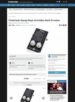MusicRadar.com Finhol Auto Stomp Player & KickBox Mark III