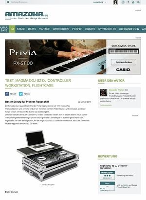 Amazona.de Test: Magma DDJ-SZ DJ-Controller Workstation, Flightcase