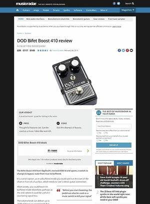 MusicRadar.com DOD Bifet Boost 410