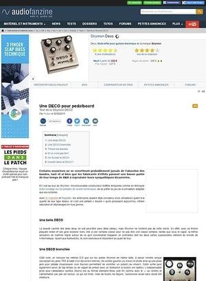 Audiofanzine.com Strymon Deco