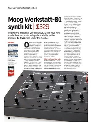 Future Music Moog Werkstatt-01 synth kit