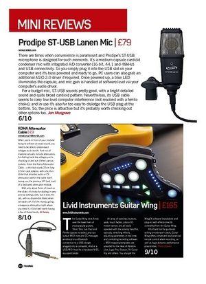 Future Music Livid Instruments Guitar Wing