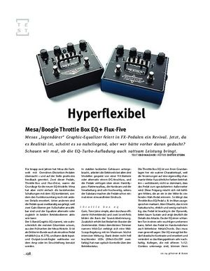 Gitarre & Bass Mesa/Boogie Throttle Box EQ + Flux-Five, FX-Pedale