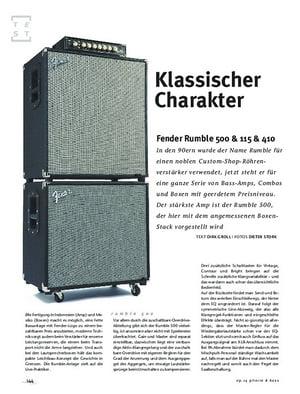 Gitarre & Bass Fender Rumble 500 & 115 & 410, Bass-Anlage